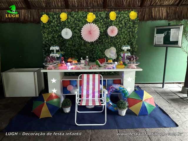 Decoração Pool Party - Mesa decorada Festa na Piscina, aniversário infantil