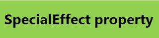 الاكسيل : الخاصية SpecialEffect من اهم خصائص الفورم EXCEL VBA