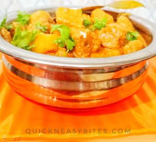 Soyabean Potato Curry quick recipe
