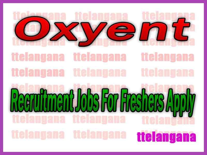 Oxyent Recruitment Jobs For Freshers Apply