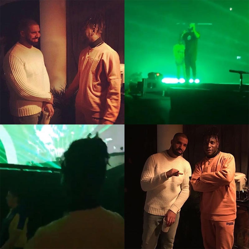 More photos of Burna Boy hanging out with Drake
