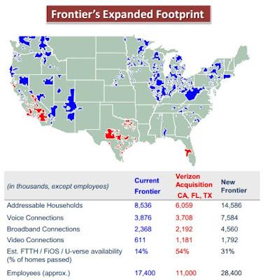 Frontier Fios Map