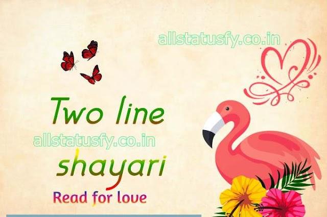 BestTwo line shayari collections hindi 2021