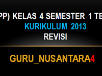 RPP Kurikulum 2013 Kelas IV Tema 1 Semester 1