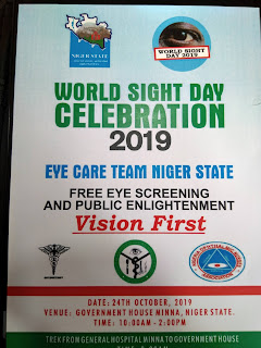 2019 WORLD SIGHT DAY: NIGER STATE EYE CARE TEAM BEGINS FREE EYE SCREENING AND PUBLIC ENLIGHTENMENT