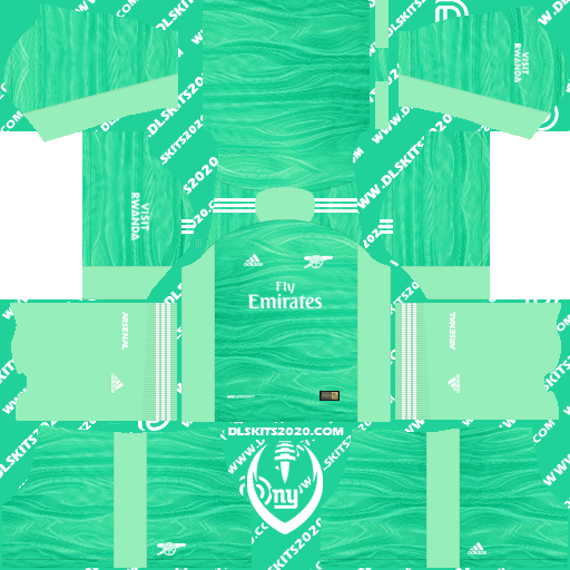 Fc Arsenal Kits 2021-2022 Adidas for Dream League Soccer 2019 (Home Goalkeeper)
