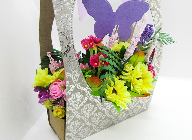 Fake flower gift bag