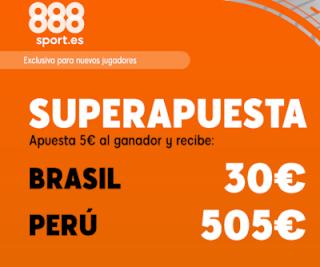 888sport superapuesta copa america Brasil vs Peru 7 julio 2019