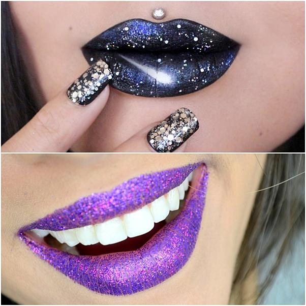 glitter boca maquiagem