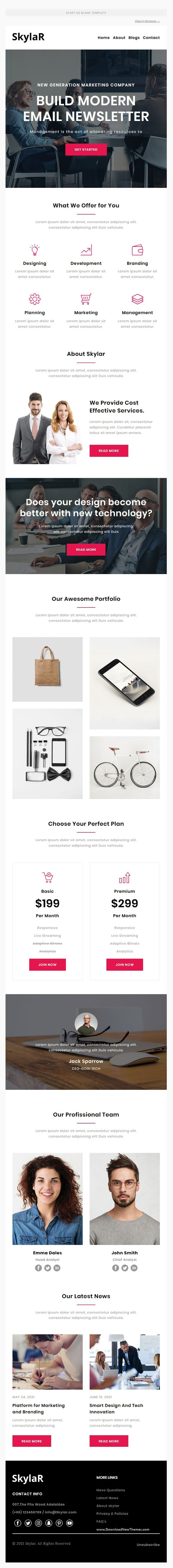 Agency Multipurpose Responsive Brand Email Template
