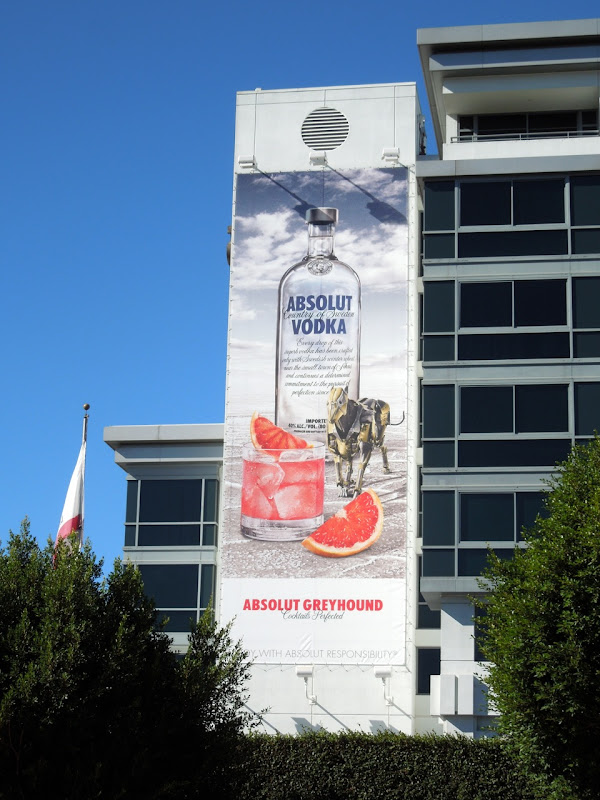 Absolut Greyhound Vodka billboard SLS Hotel