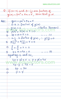 remainder and factor theorem questions and answers pdf