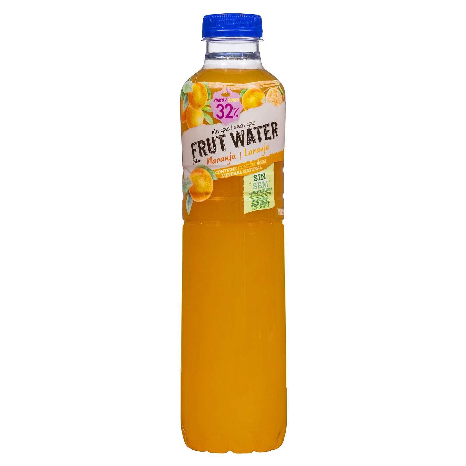 Refresco frut water naranja Hacendado
