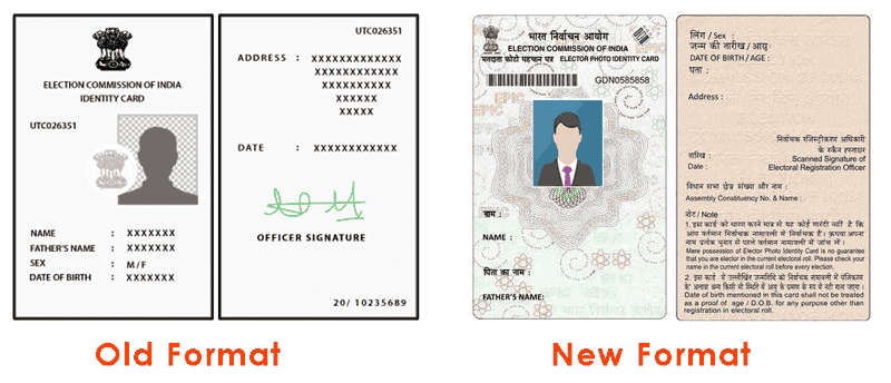 Format of Voter ID Card, Voter ID Card Sample