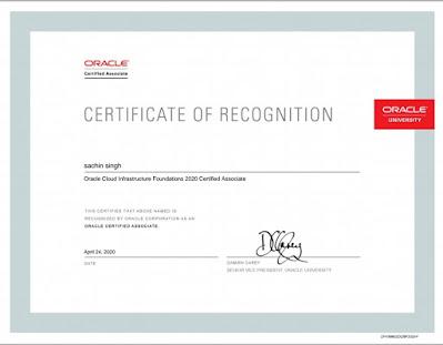Sachin's certificate