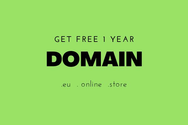 Dapatkan Gratis Domain .eu .store .online 1Tahun