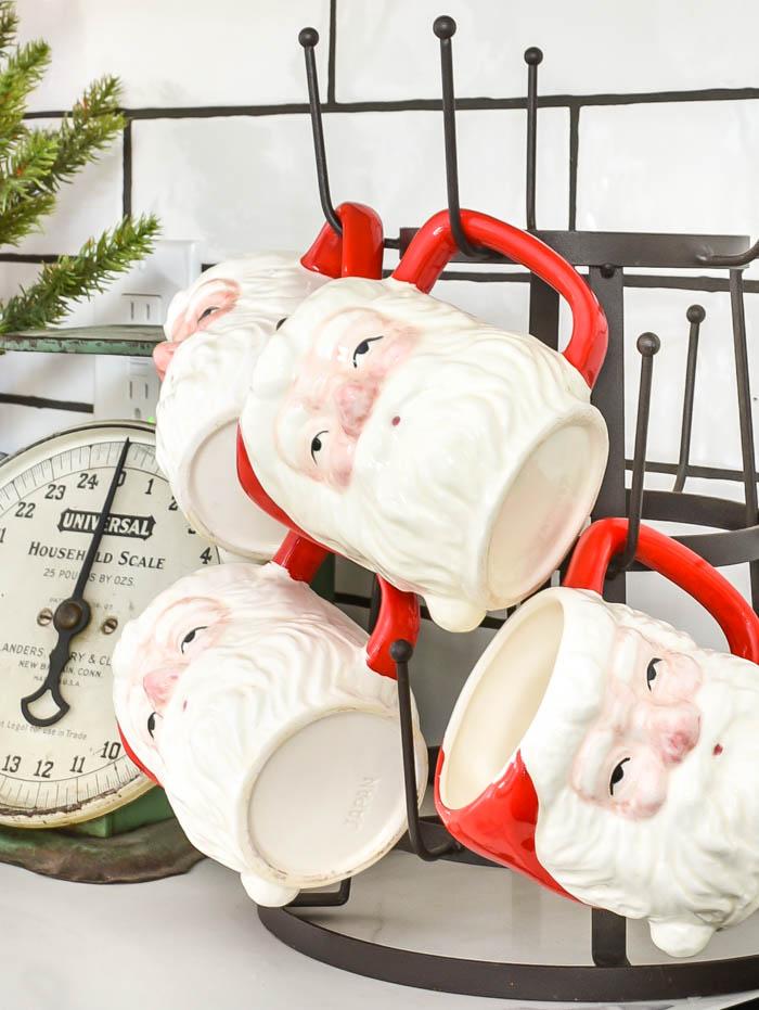 Vintage santa mugs