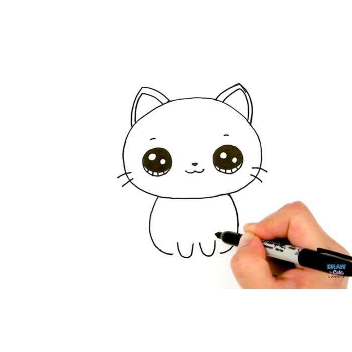 Gambar Kucing Simple godean.web.id