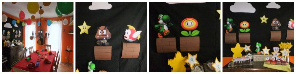 Wand-und Tischdeko Super Mario party
