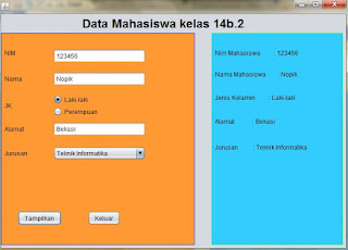 Hasil Program Java Swing