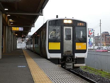 【only1本だけ運行】水郡線 上菅谷行き キハE130系(たった1本だけ!)