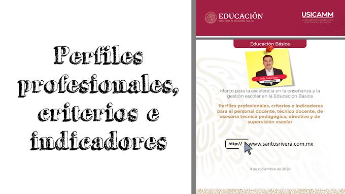 Perfiles profesionales, criterios e indicadores para el personal docente, técnico docente, de asesoría técnica pedagógica, directivo y de supervisión escolar