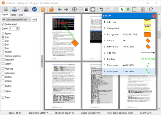 Screenshot FinePrint 10.03 Full Version