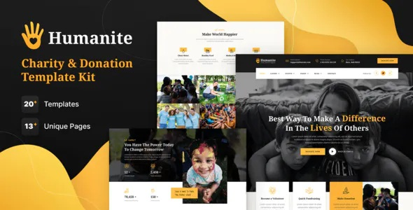 Best Charity and Donation Elementor Template Kit