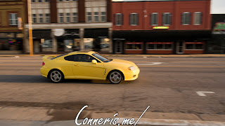 Yellow Hyundai Tiburon
