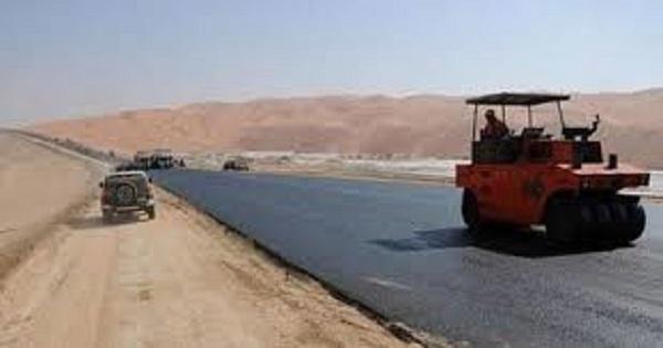 بطول 56 كم طريق مواز للحدود السورية الأردنية .