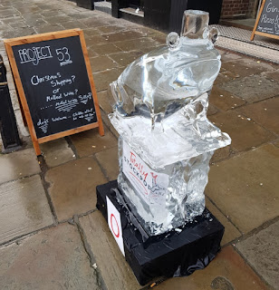 A froggy character was part of the Stockport Ice Trail last December