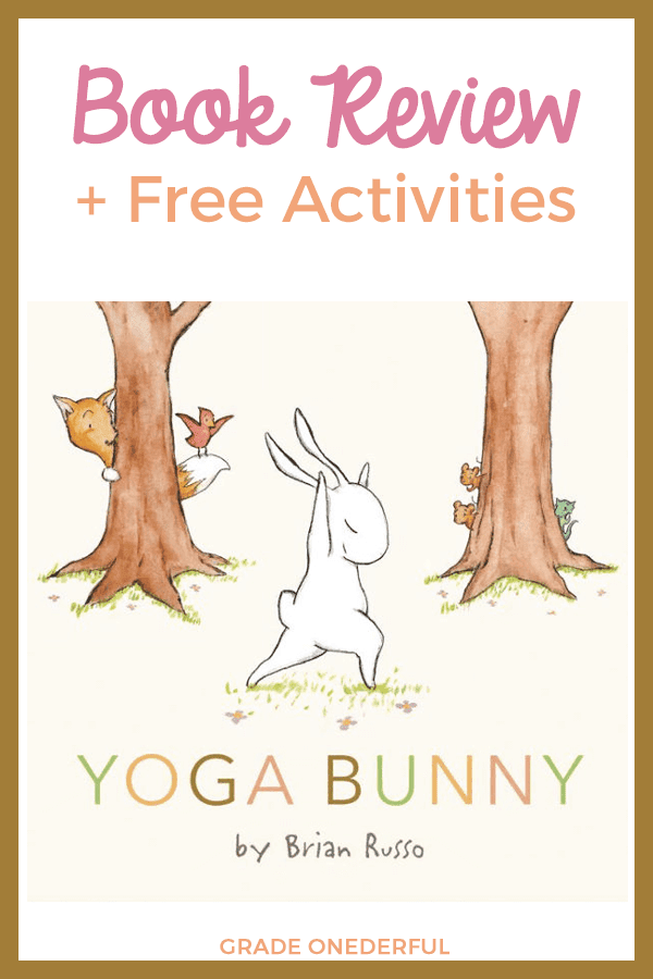 Yoga Bunny book review with suggested activities. This super sweet book is perfect for introducing yoga to your kiddies.
