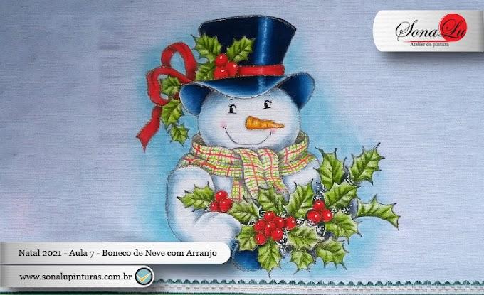 Natal 2021 - Aula 7 - Boneco de Neve com Arranjo