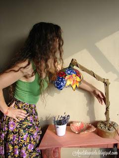 fabric-scraps-lampshade- jak-zrobić-klosz-witrażowy- Tiffany-lampshade-inspired