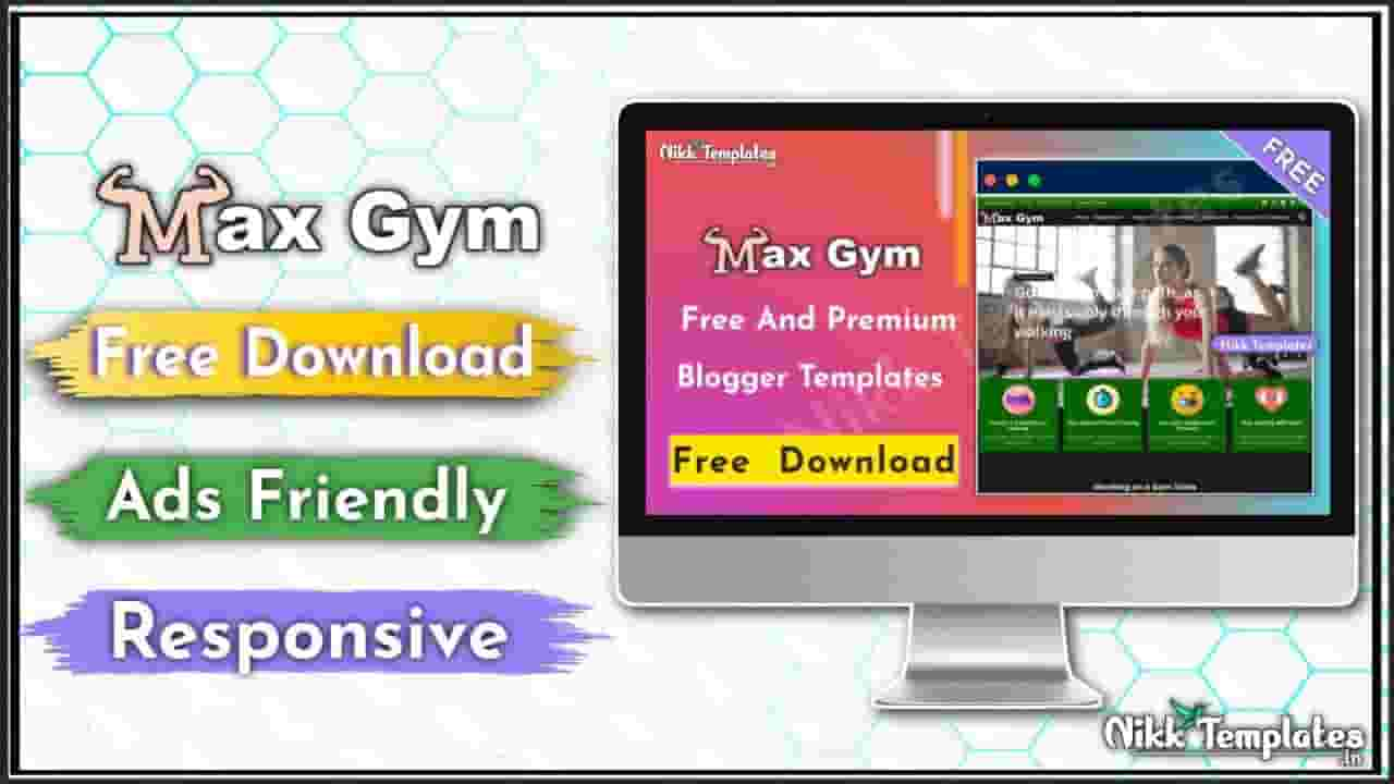 [Orginal] Max Gym - Health & Fitness Blogger Template - {Free Download}