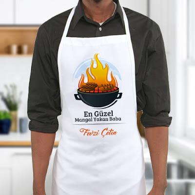 Mangalcı Babaya Özel Mutfak Önlüğü