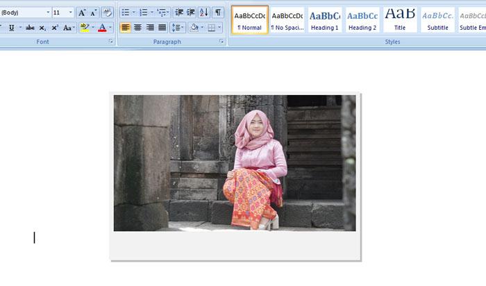 Cara Membuat Foto Polaroid Di MS Word Mudah