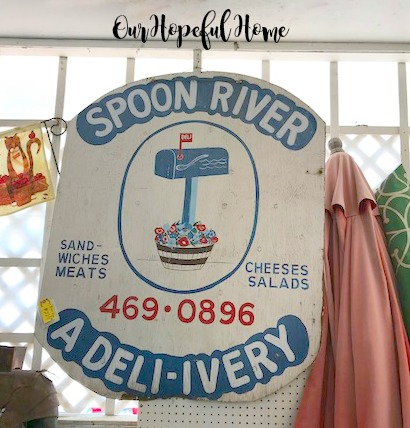vintage Spoon River deli sign