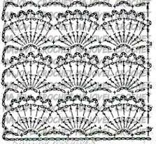 Crochet Patrón punto abanicos a crochet muy facil y rapido Majovel Crochet
