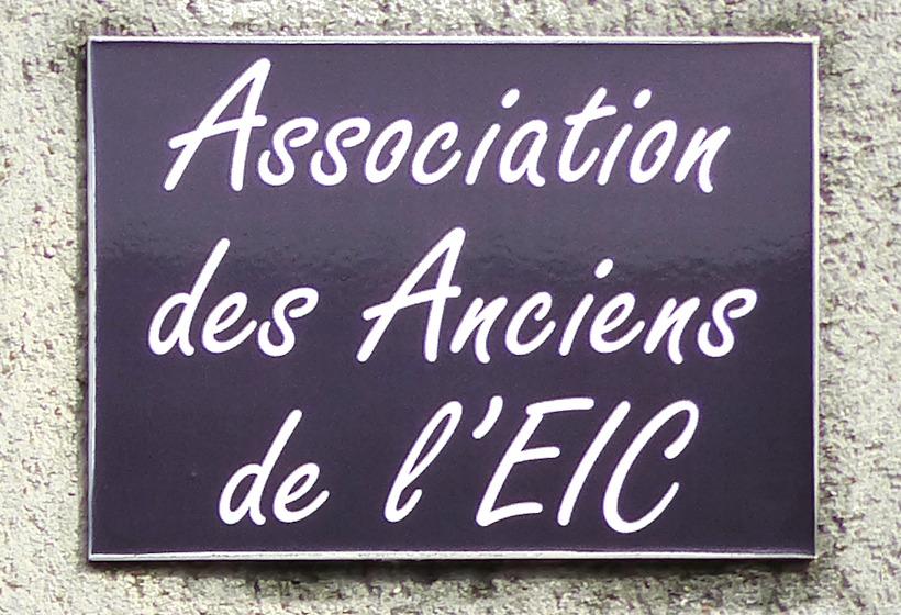 Association des anciens élèves de l'EIC - Plaque.