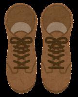 上から見た靴のイラスト(ブーツ)