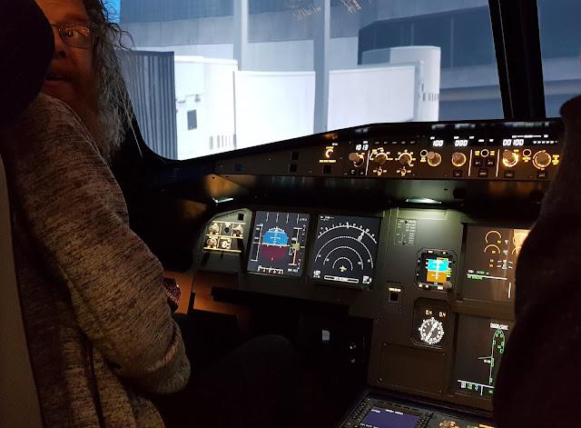 Airbus A320 Flight Simulator control console artificial horizon