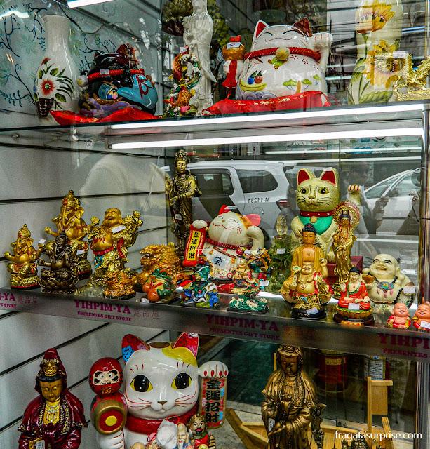 Loja de produtos japoneses no bairro da Liberdade, São Paulo