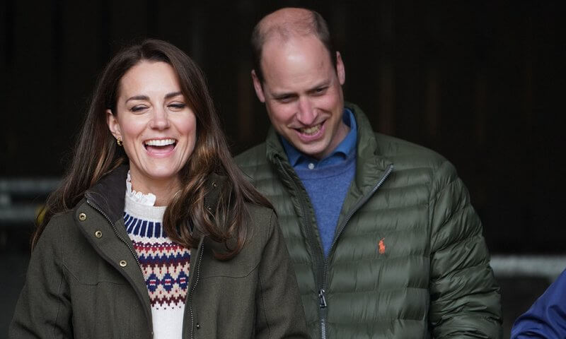 Kate Middleton wore a supersoft lambswool fair-isle jumper from Troy London, and longshore quilted jacket from Barbour
