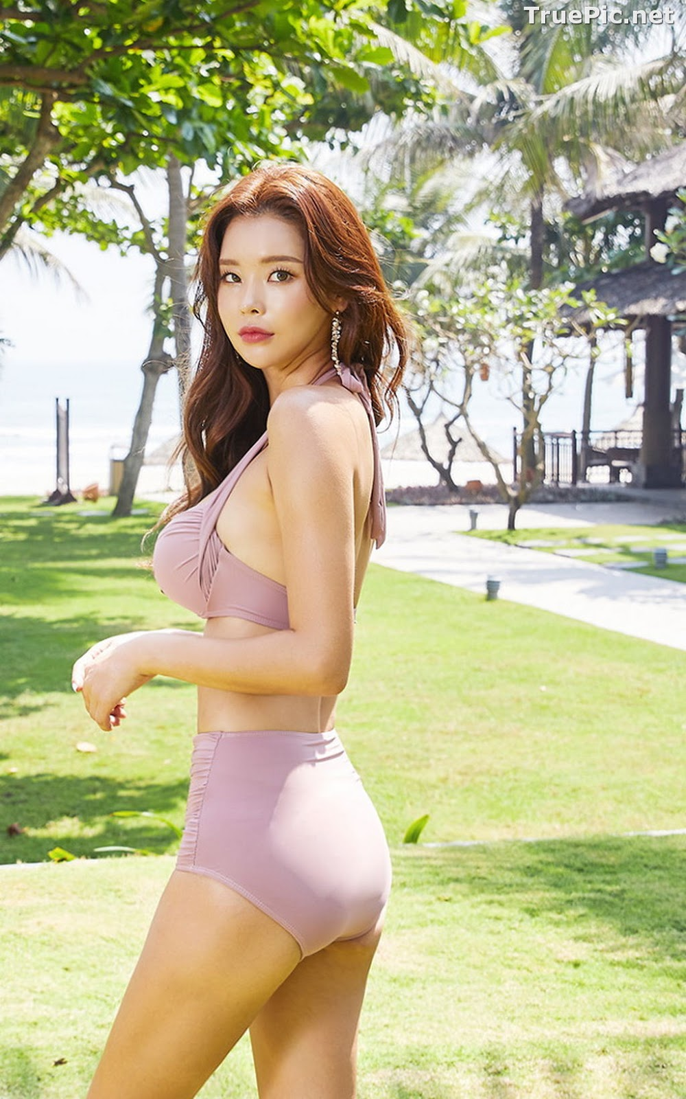 Image Park Da Hyun - Korean Fashion Model - Rose Mellow Pale Pink Bikini - TruePic.net - Picture-7