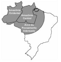 Mapa Brasil Amazônia