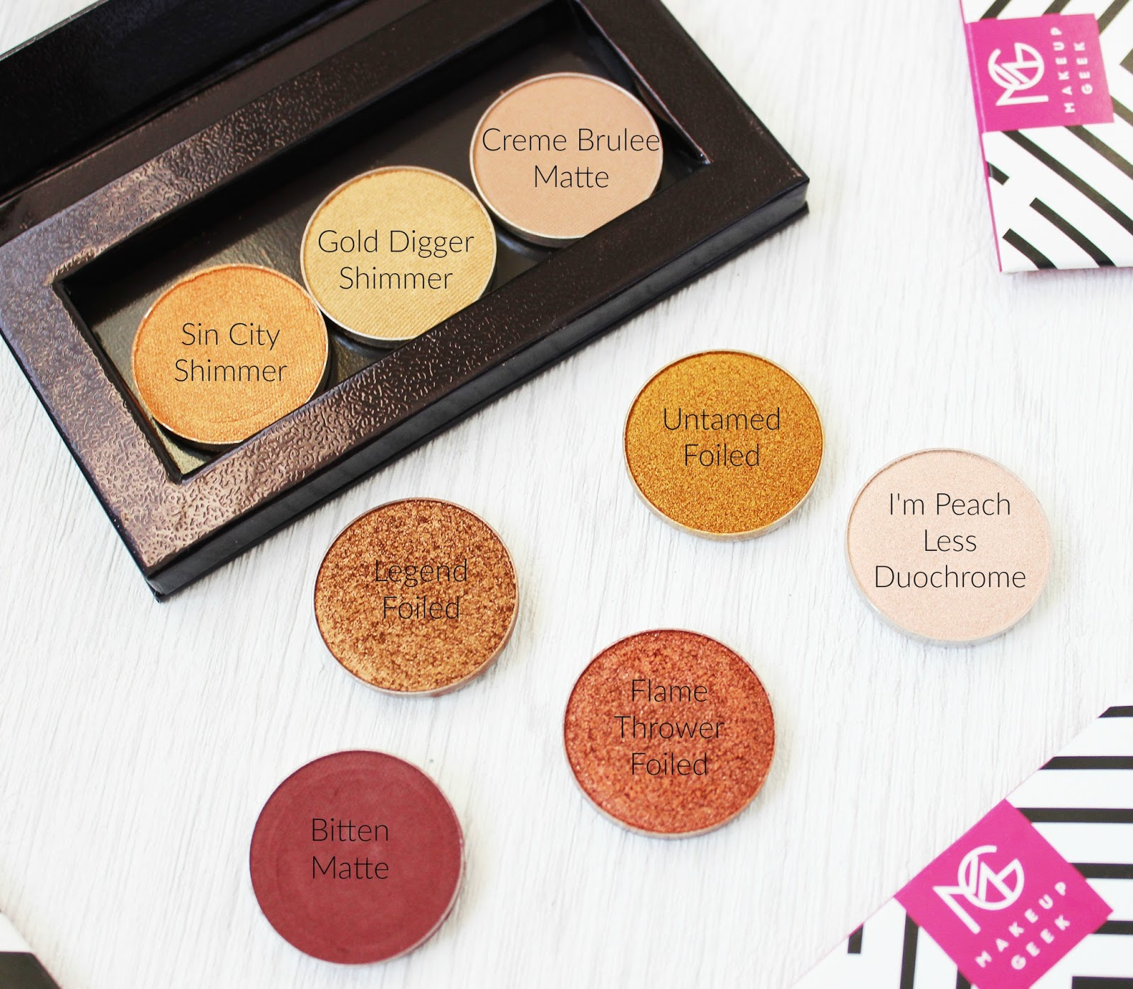 Makeup Geek eye shadow review and swatches
