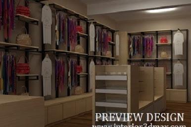 Jasa design 3dmax toko baju murah berpengalaman