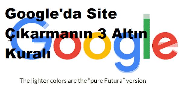 Google'da Site Çıkarmanın 3 Altın Kuralı