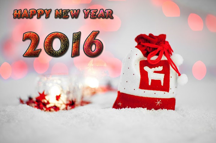 Knit Cap Snow New Year 2016 Background Image